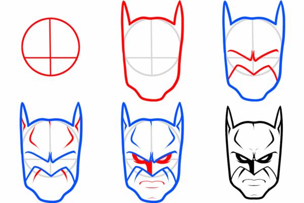 como desenhar o Batman