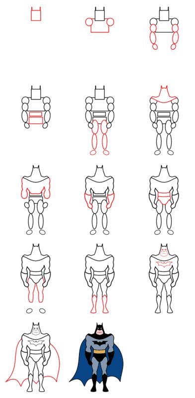 desenhos do Batman para fazer
