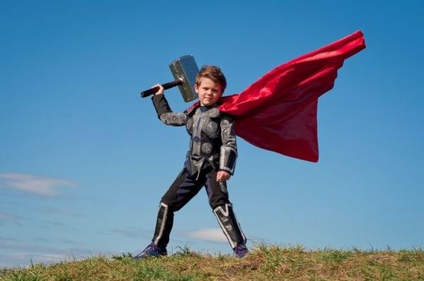 fantasia thor infantil cosplay