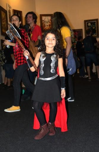 fantasia thor infantil feminina com saia preta