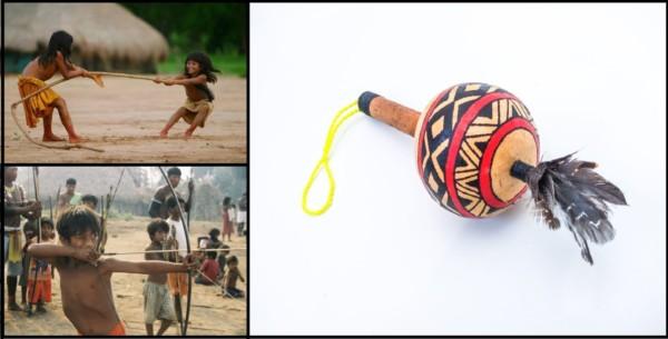 fotos de brinquedos indigenas