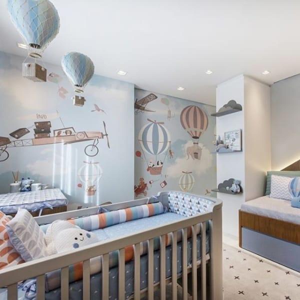 temas para quarto de bebê balão azul