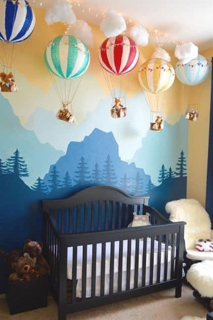 temas para quarto de bebê balão colorido