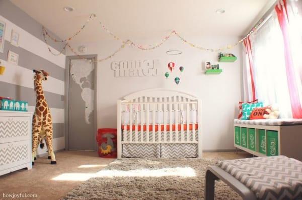 temas para quarto de bebê balão com girafa