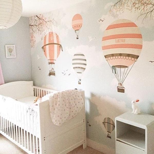 temas para quarto de bebê balão noir