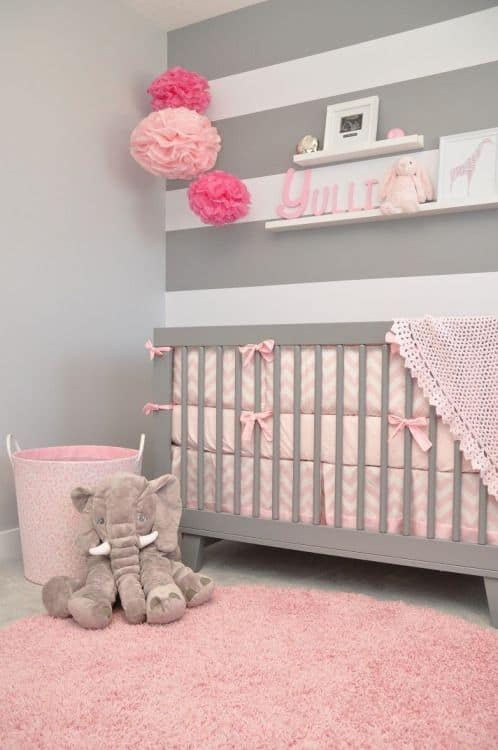 temas para quarto de bebê elefante rosa