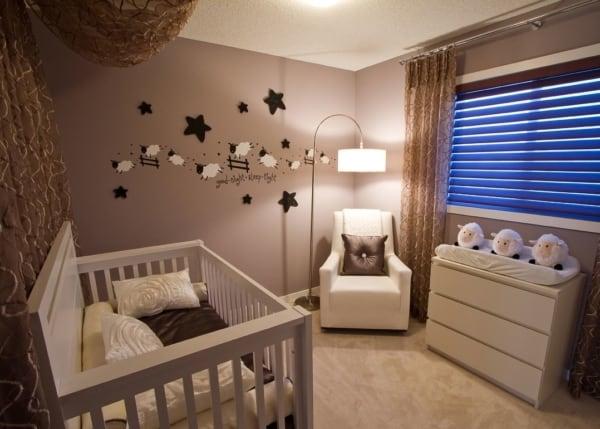 temas para quarto de bebê marrom com ovelhas