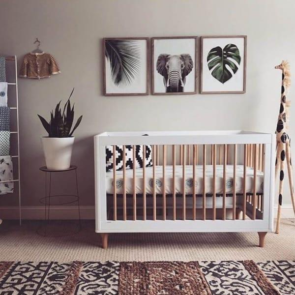 temas para quarto de bebê safari estilo clean