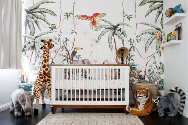 temas para quarto de bebê safari