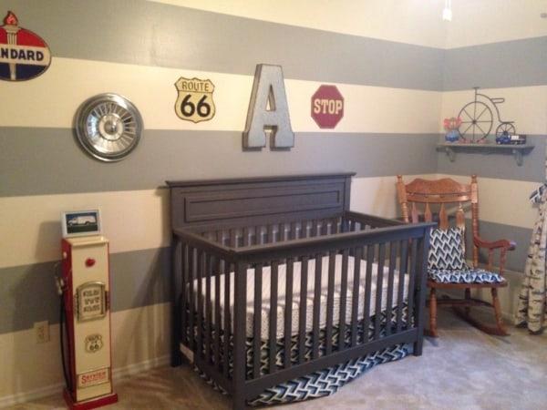 temas para quarto de bebê vintage carros