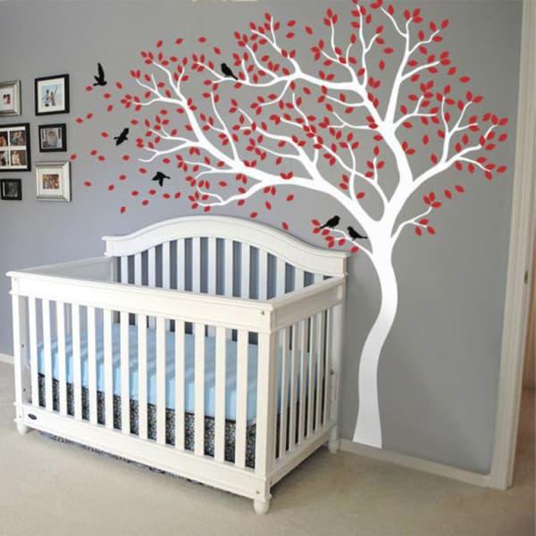 temas para quarto de bebe passaros na arvore
