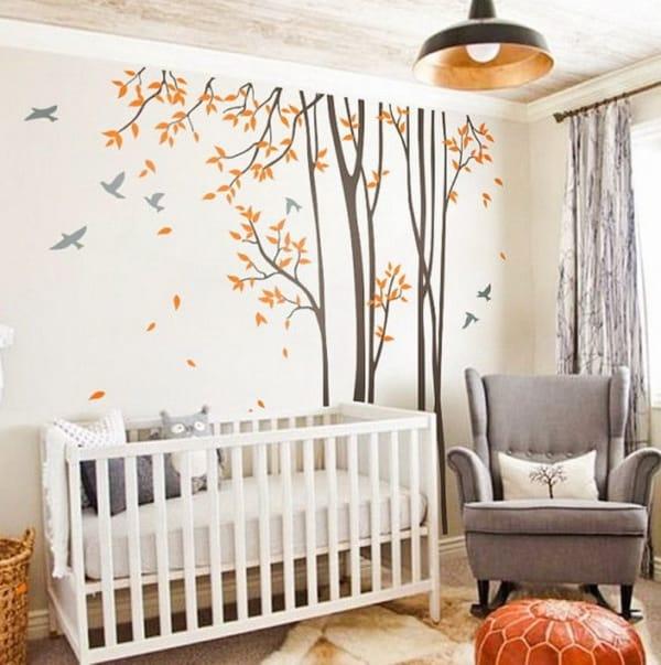 temas para quarto de bebe passaros