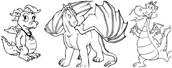 desenhos de dragão grátis