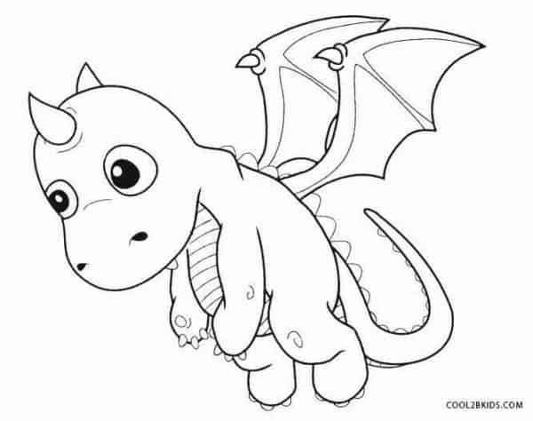 desenho de dragaozinho para colorir
