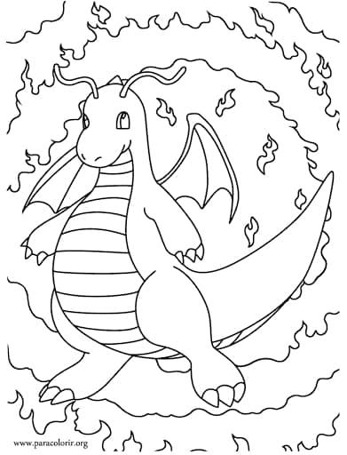 desenho infantil de dragão para imprimir grátis