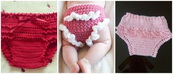 modelos de calcinha em crochê para bebê