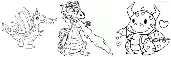 desenhos grátis de dragão