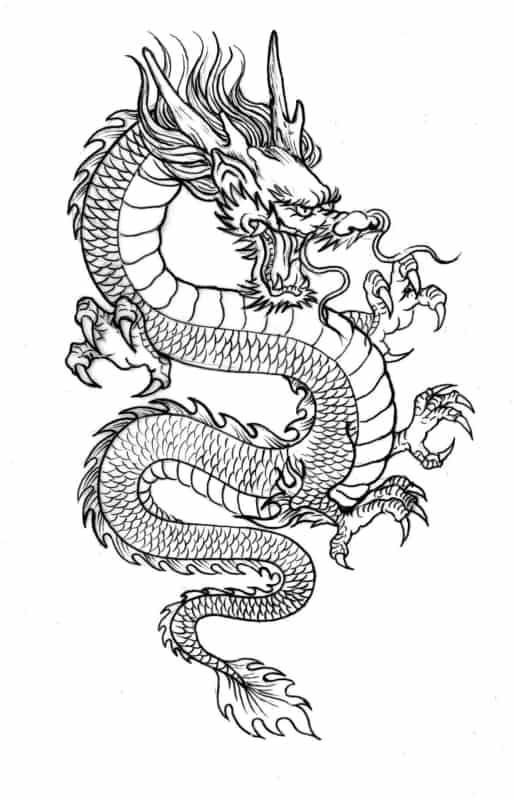 desenho de dragão para imprimir grátis