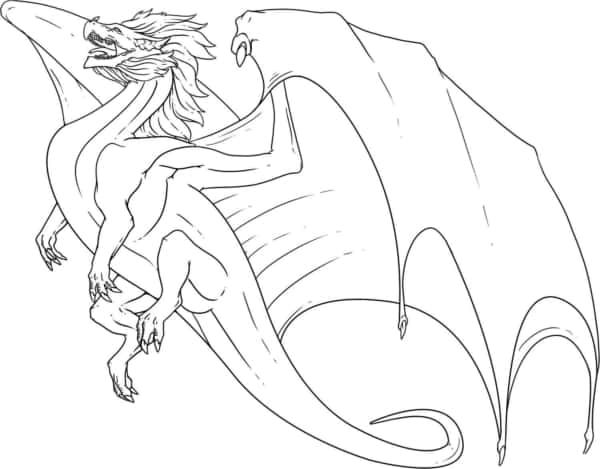 desenho de dragão voando