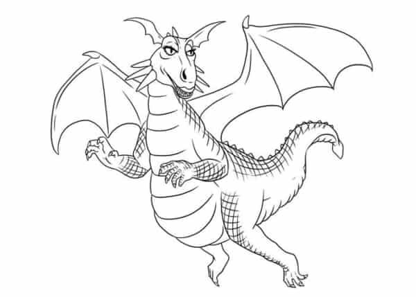 desenho de dragão do shrek para pintar