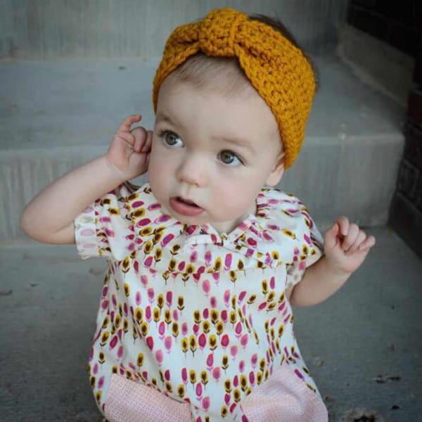 tiara de bebê em crochê