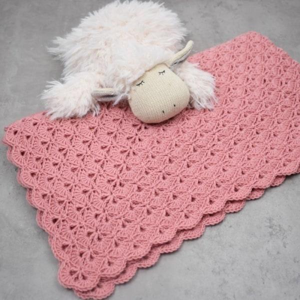 manta de crochê para bebezinho