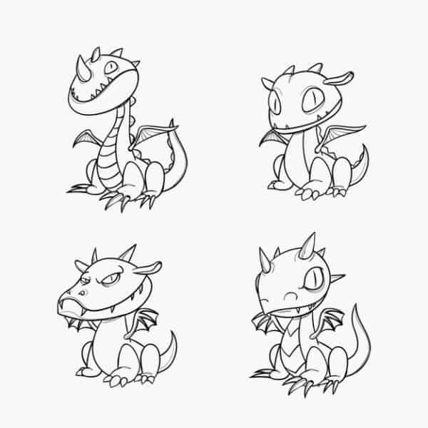 desenhos de dragões para pintar