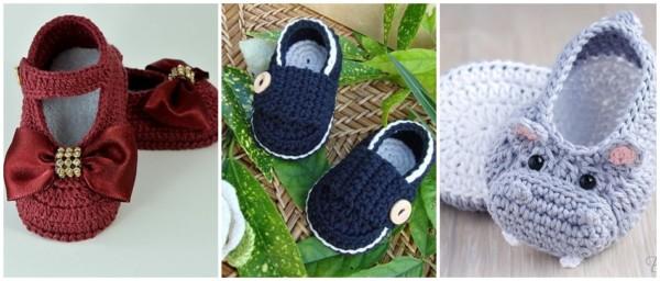 modelos de sapatinhos de crochê para bebê