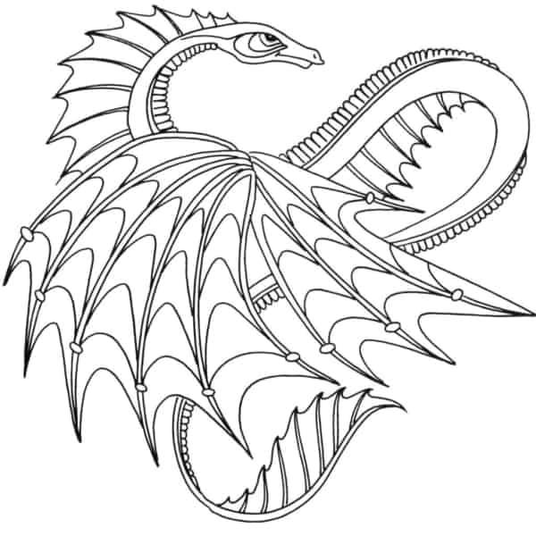 desenho de dragão