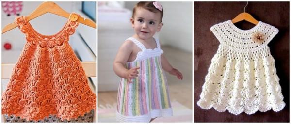 modelos de vestido em crochê para bebê