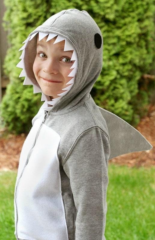 fantasia de tubarão casaco