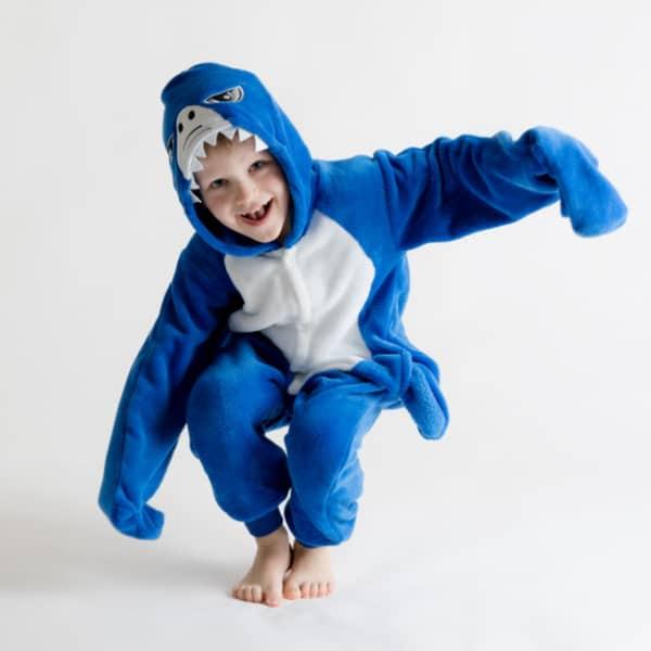 fantasia de tubarão confortavel