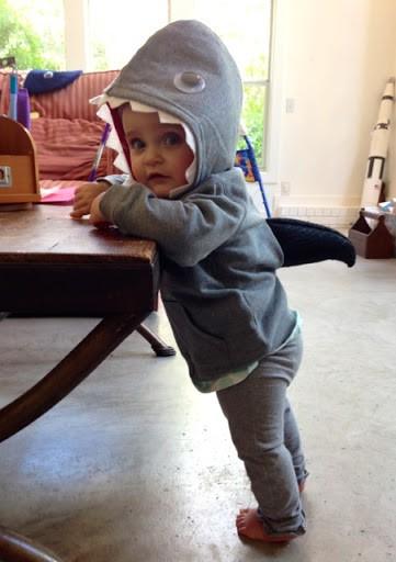 fantasia de tubarão infantil