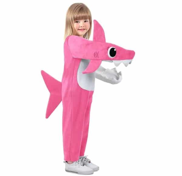 fantasia de tubarão rosa