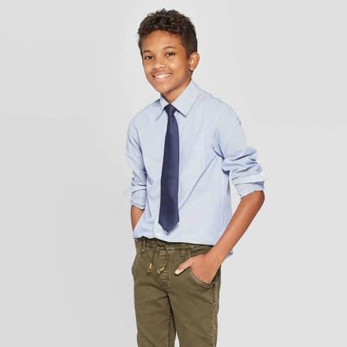 gravata infantil azul da guess