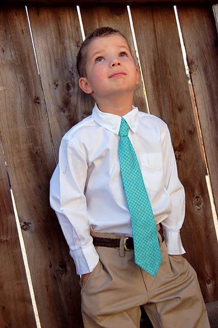 gravata infantil com calça social