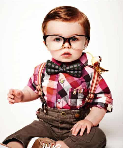 gravata infantil com camisa xadrez