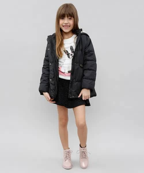 short saia infantil moda inverno