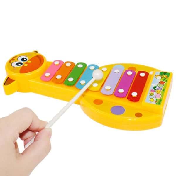 teclado com música brinquedo interativo