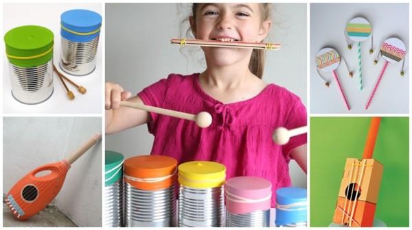 instrumentos musicais reciclados