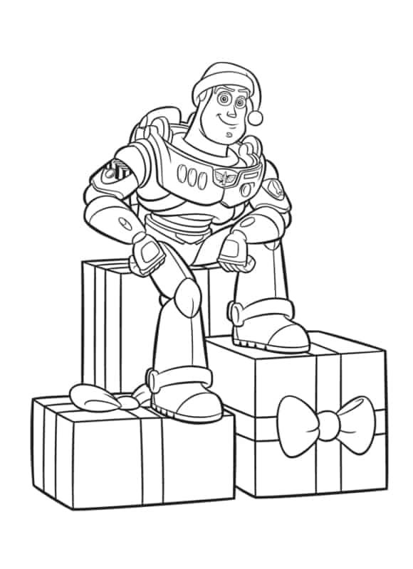 desenho de natal Toy Story para pintar