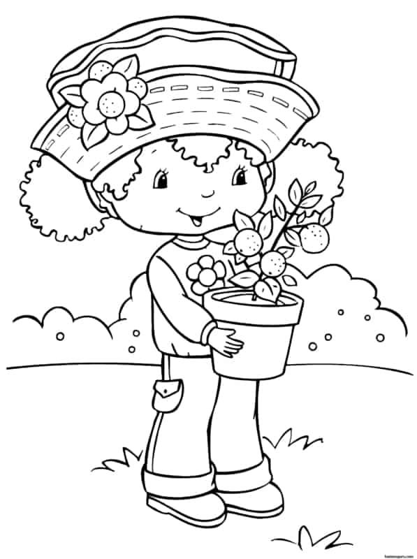 desenho de menininha para colorir
