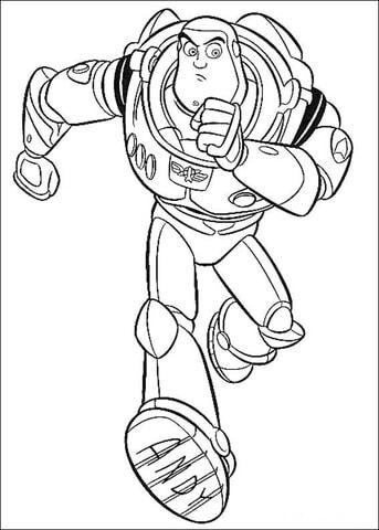 desenho Buzz correndo para colorir