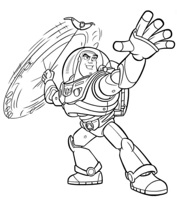 desenho Buzz Lightyear para pintar