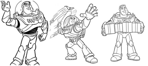 desenhos Buzz para pintar