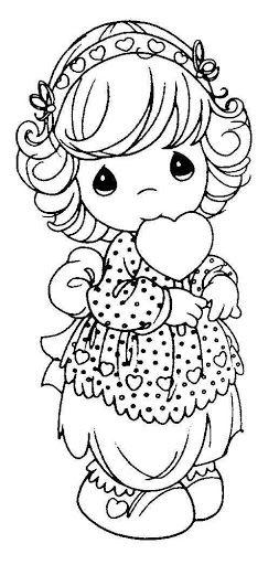 desenho fofo de menininha para imprimir grátis