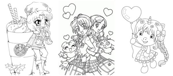 desenhos cute de menina para imprimir e colorir