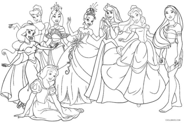 desenho de princesas para imprimir e colorir
