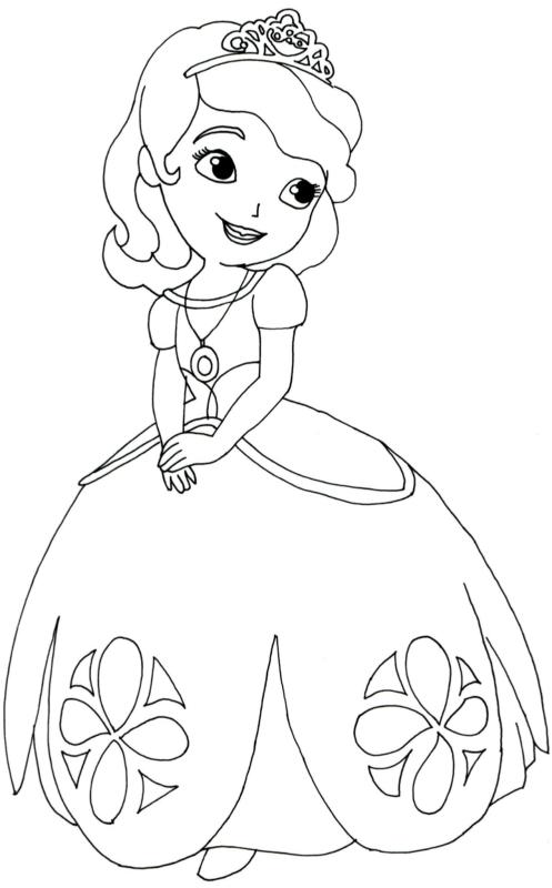 desenho princesinha sofia para colorir