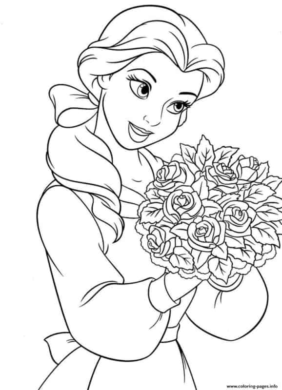 desenho de princesa para colorir